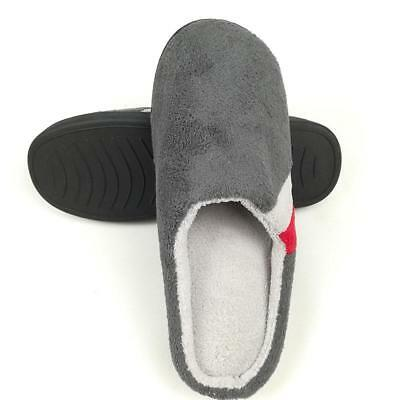 Men Slippers Autumn Winter Home Short Plush Indoor Warm Comfortable Flat Shoes