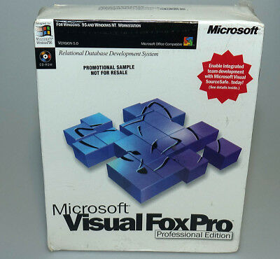 Microsoft Visual FoxPro Professional 5.0 full version sealed box 340-00148 NEW