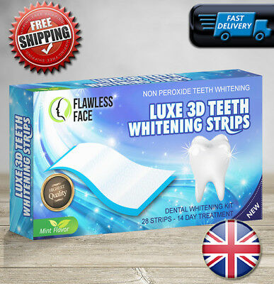 28 Strips Professional Teeth Whitening Safe Tooth Bleaching ICE White 14 Days UK