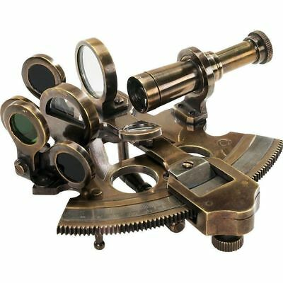 4 Inch Antique Sextant Vintage Brass Marine Nautical Navy Collectible Gift Item