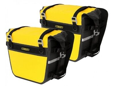 Motorcycle Dry Waterproof Saddle Panniers - Nelson Rigg - Yellow - 55 Litres