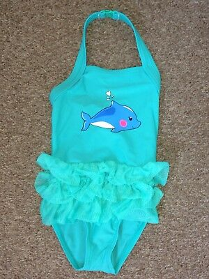 9d488ef073934 M&S MARKS AND Spencer Baby Girls Swimming Costume Swimwear Size 18 ...