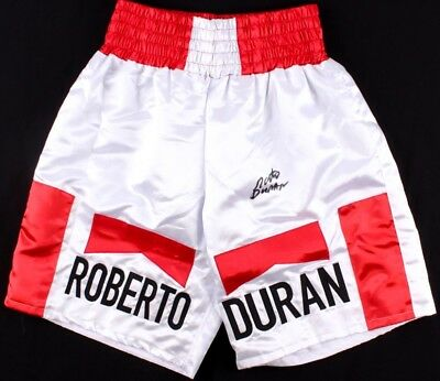 Roberto Duran Signed Boxing Trunk