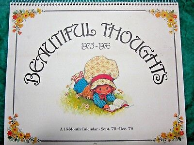 Vintage 1975-76 Drawing Board Beautiful Thoughts 16-Mo Calendar Susanna Woods