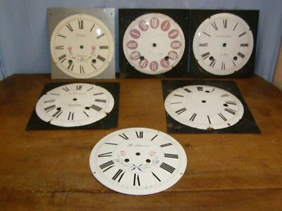 Lot of 6 old enamel dials  for comtoise movement