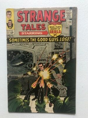 Strange Tales 138 VG- glossy OW 1965 Ditko first Eternity