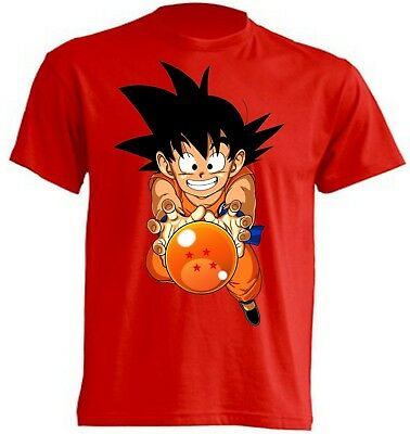 Camiseta- Goku - Dragon Ball -   T-Shirt - Niños Y Adultos
