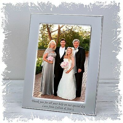 Photo Frame Personalised Wedding Day Thank you Engraved gift | Cellini Gifts #1