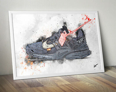 Off-White Presto Black / Nike Air / Trainer / Sneaker Wall Art Print / Poster