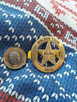 KYLIE GOLDEN TOUR SHERIFF'S PIN BADGE 40mm LOVELY BIG BADGE!  NOT ON SALE YET!