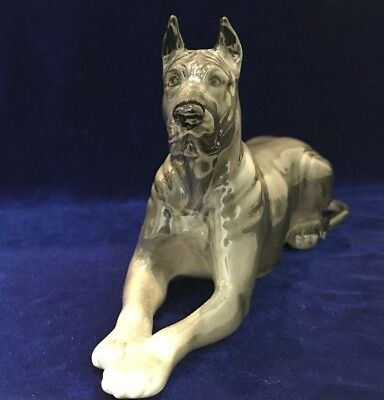 Great Dane porcelain figurine dog color gray high quality from Russia