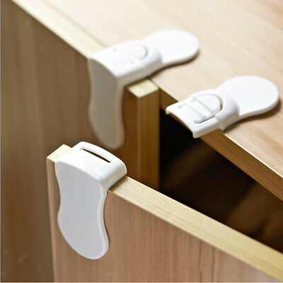 Adhesive Baby Childs Pet Proof Cupboard Door Drawer Safety Care Lock Latch