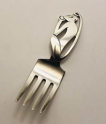 Vintage International Sterling Silver Figural Monkey Handle Baby Fork