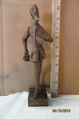 Hand carved wooden Shakespeare figure. Excellent condition. Humorous.