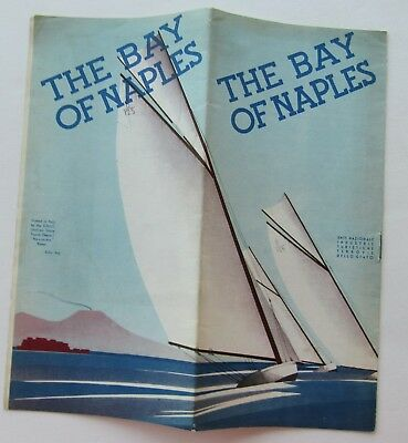 Travel Brochure For The Bay Of Naples, Italy 1930's/40's