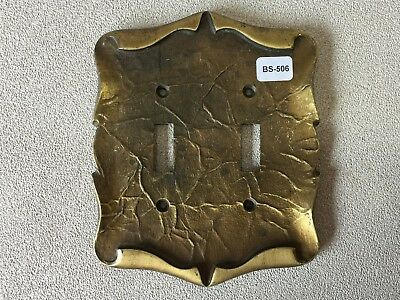 BA-506 Vintage NOS Amerock Carriage Double Switch Plate Cover MCM
