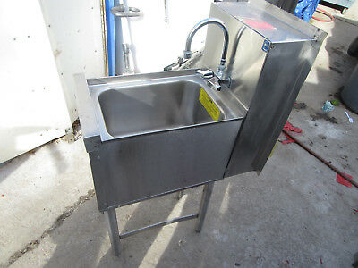 A1 Sink 1 Bay Commercial Restaurant Smtghall Stainless Steel W/ Faucet Perlick