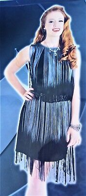 Art Deco Flapper 1920's Gatsby Gray Black Fringe Adult Womens Costume N8