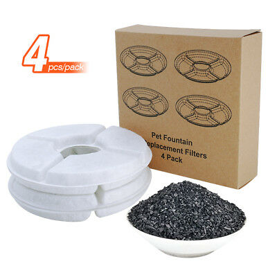 4pcs Cat Dog Water Fountain Bowl Drink Dish Charcoal Filter Fresh Replacement