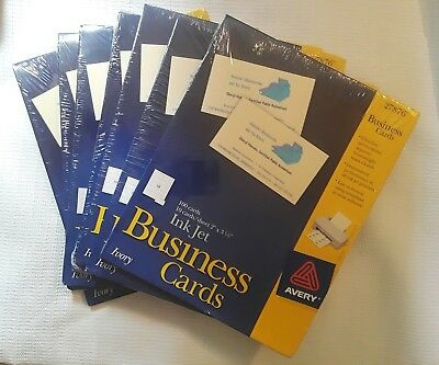 LOT OF 7 PACKS(700 cards)Avery Ink Jet Business Cards(27876 IVORY)NEW