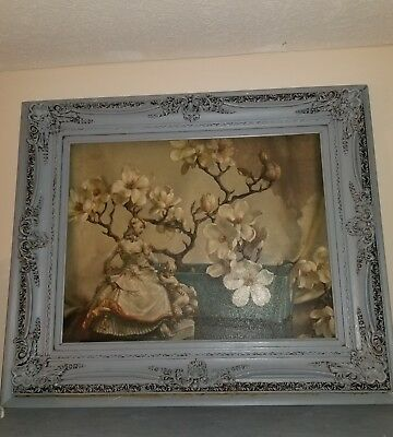 Vintage Ornate Wood Gilt Gesso Picture Frame/ picture