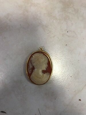 Victorian Style Lady Beautiful Oval Cameo Pendant Locket