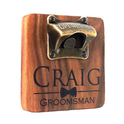 Personalized Vintage Style Bar Beer Top Wooden Bottle Cap Wall Mount Opener t