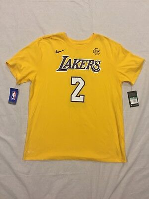 promo code d647e 44fba NIKE LONZO BALL #2 Los Angeles Lakers Dri-FIT Gold Men's Shirt Name Jersey  NWT