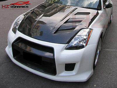 Carbon Fiber AMS Type Vented Bonnet with Trays Fits Nissan 350Z Z33 2003 to 2008