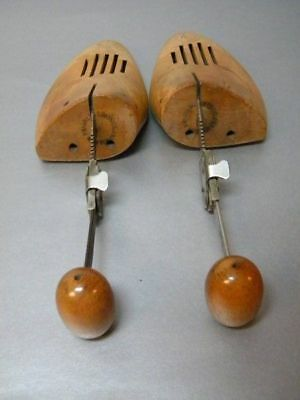 Antique Vintage 1920's Franklin Simon Co. Pair Vented Wooden Shoe Trees Forms