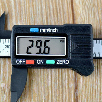"Digital Electronic Gauge Plastic Steel Vernier Caliper 150mm 6"" Micrometer GUT"