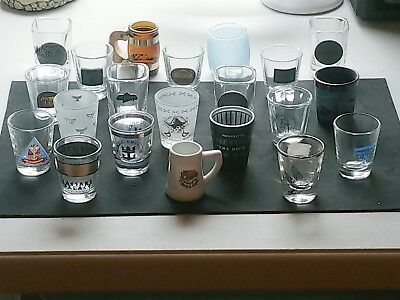 21 Shot Glasses Various All In Excellant Condition