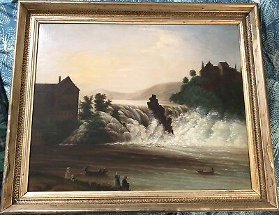 Antique American European Painting Hudson River School William Stanley Haseltine
