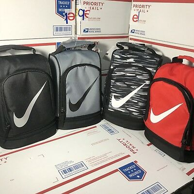 Nike Insulated School Lunch Box Tote Carrier Black, Grey, Grey CAMO, Red