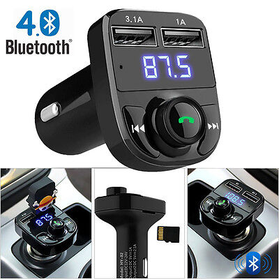 USB Charger Car Kit Handsfree Wireless Bluetooth FM Transmitter LCD MP3 Player
