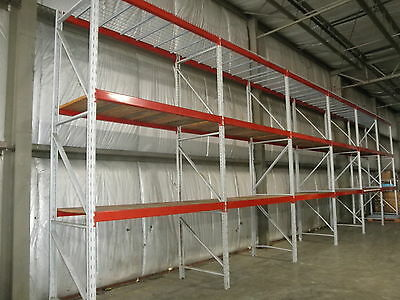 "Three Sections Ridge U Rack  Pallet Racking 168""H..."