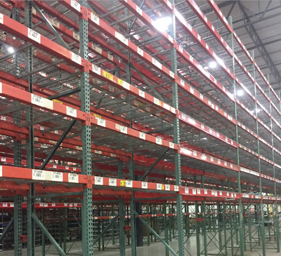 "36"" x 324"" (27') Heavy Duty Tear Drop Uprights/Pallet Racking..."