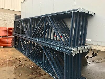 "10 Sections of Heavy Duty Tear Drop Uprights/Pallet Racking 42"" x 240""..."