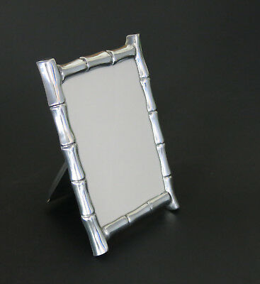 Beautiful Cast Metal Bamboo Pattern Photo Picture Frame.