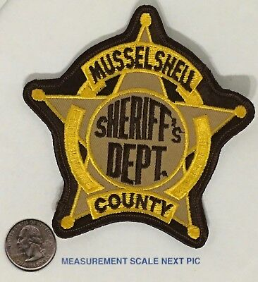 Musselshell County Montana Sheriff's Dept Patch Unused Cheesecloth Back Star O/S