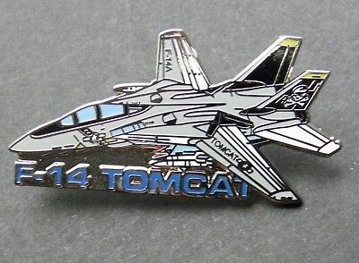 Us Navy Usn F-14 Tomcat Grumman Aircraft Large Lapel Pin Badge 2 Inches