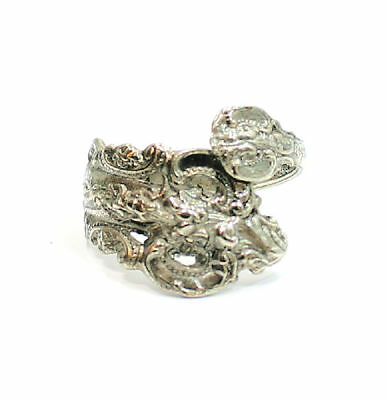 Unique Antique Style Silver Tone Fashion  Estate Ring Size 5-7 (adjustable)