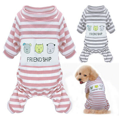 Cozy Dog Pajamas Clothes Jumpsuit Sleepwear for Small Medium Dogs Cats Clothes