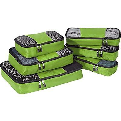 EBags Packing Organizers Cubes - 6pc Value Set (Grasshopper)