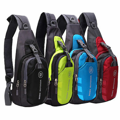Men Women Hiking Sling Crossbody Chest Bags Nylon Shoulder Waterproof Backpack