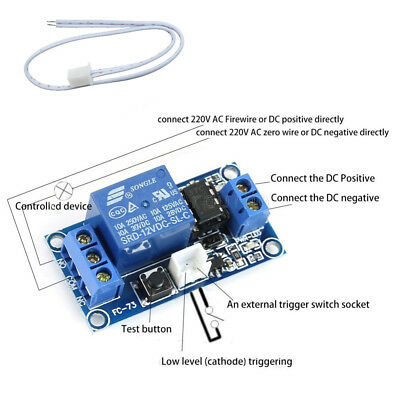 Neu 12V 1 Channel Latching Relay Module with Touch Bistable Switch MCU Control