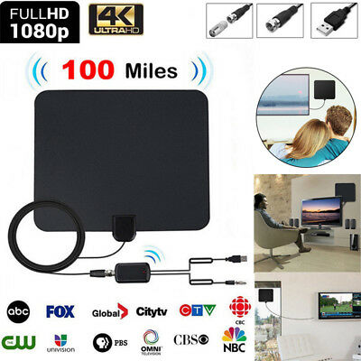 100 Miles Digtial TV Indoor Antenne Amplified DVB-T/ DVB-T2 1080P HDTV Fernseher