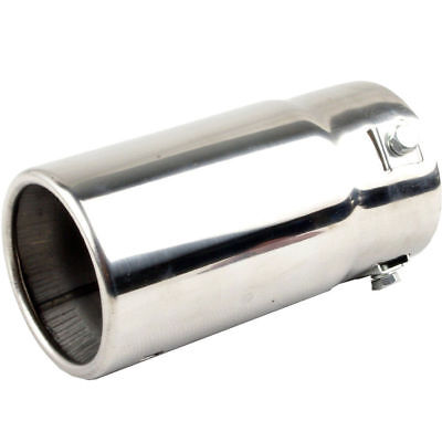 2x  Exhaust Pipe Tip Tailpipe Chrome Stainless Steel Trim Muffler For Audi A4 B8