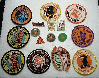 Home Depot pins & patch's