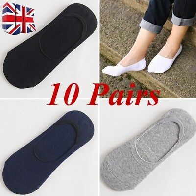 10 Pairs Women Mens Unisex Invisible Liner Trainer No Show Secret Footsies Socks